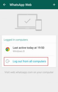 Tips Mengatasi WhatsApp yang Disadap - Log Out From All Computer