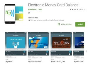 Cara Cek Saldo E-Money Segala Jenis Lewat Android - Electronic Money Card Balance